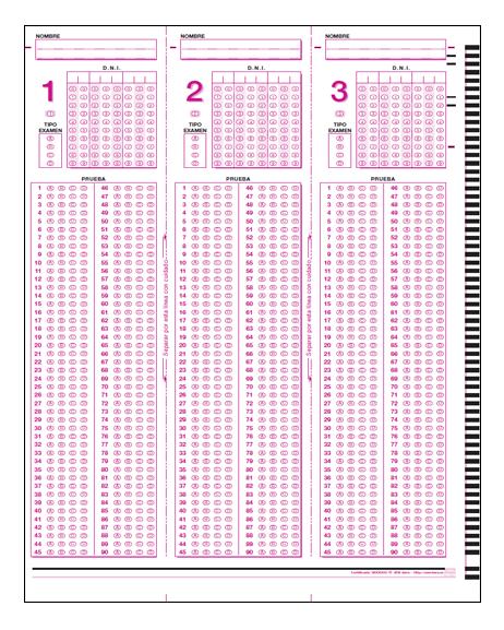 omr sheet 150 questions