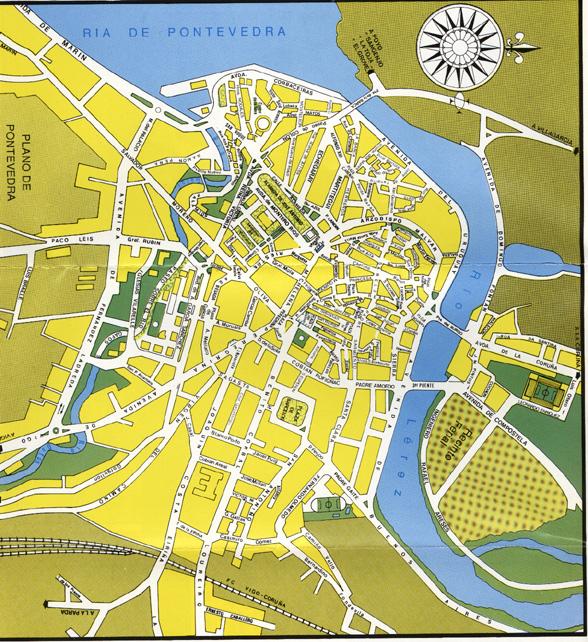Mapa De Pontevedra Ciudad.Pontevedra